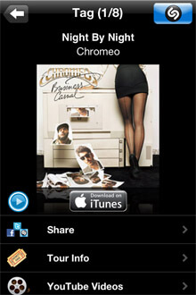 Shazam iPhone Screenshot