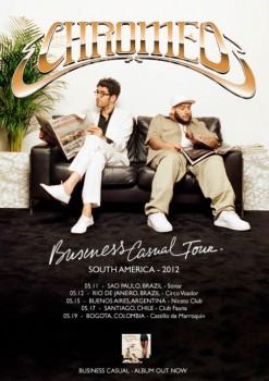 Chromeo 'Business Casual' tour flyer