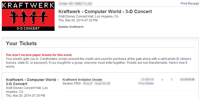 Kraftwerk LA confirmation